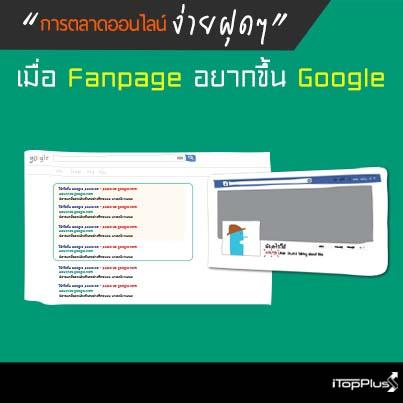เมื่อ Fanpage อยากขึ้น Google