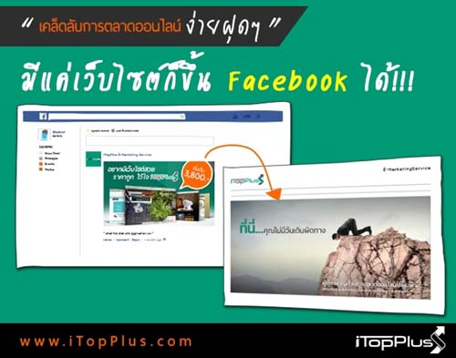 มีแค่ เว็บไซต์ ก็โฆษณาผ่าน Facebook ได้