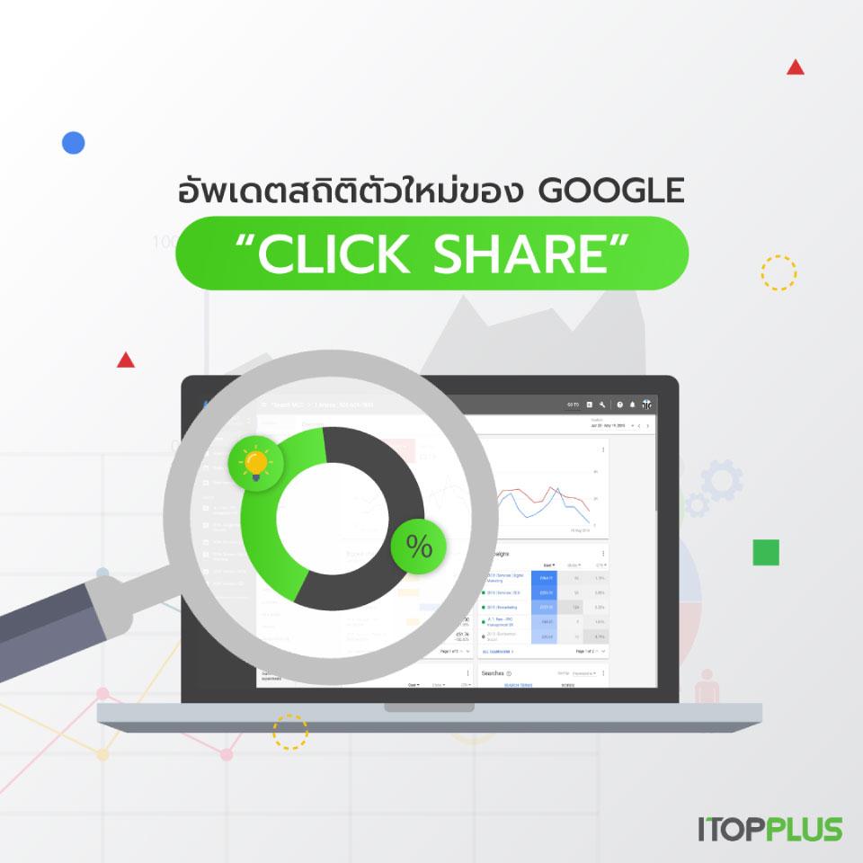 """อัพเดตสถิติตัวใหม่ของ Google """"Click Share"""""""